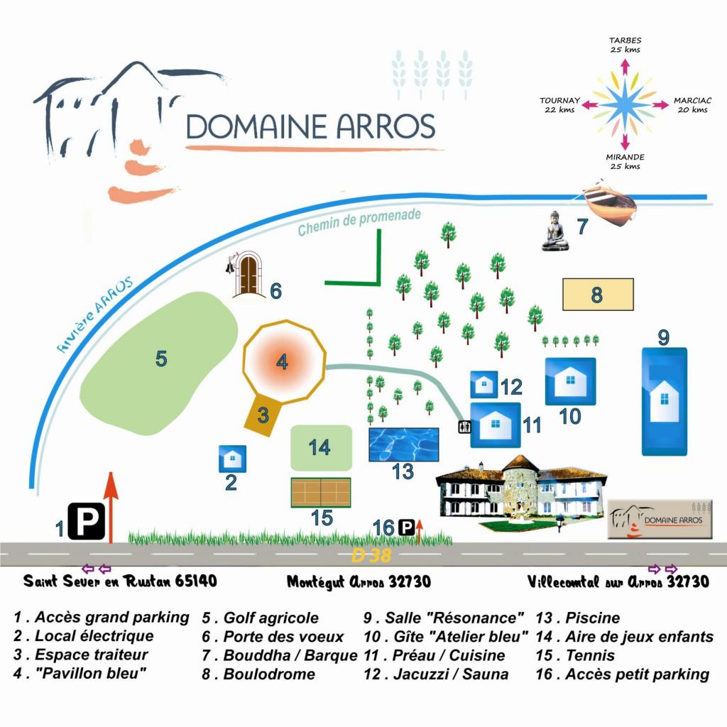 Plan Domaine Arros